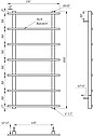 Полотенцесушитель Genesis-Aqua Kioto 100x53 см, фото 2