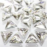 Пришивные стразы 11х11(синтетич.стекло).Треугольник.Цвет Crystal .Цена за 1шт