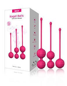 Набір вагінальних кульок рельєфних Melo