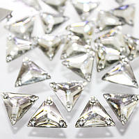 Пришивные стразы(синтетич.стекло).Треугольник 16х16.Цвет Crystal .Цена за 1шт