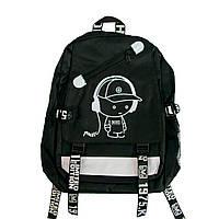 Школьный рюкзак Backpack городской черный для подростка, портфели в школу для девочки, для мальчика (TI)