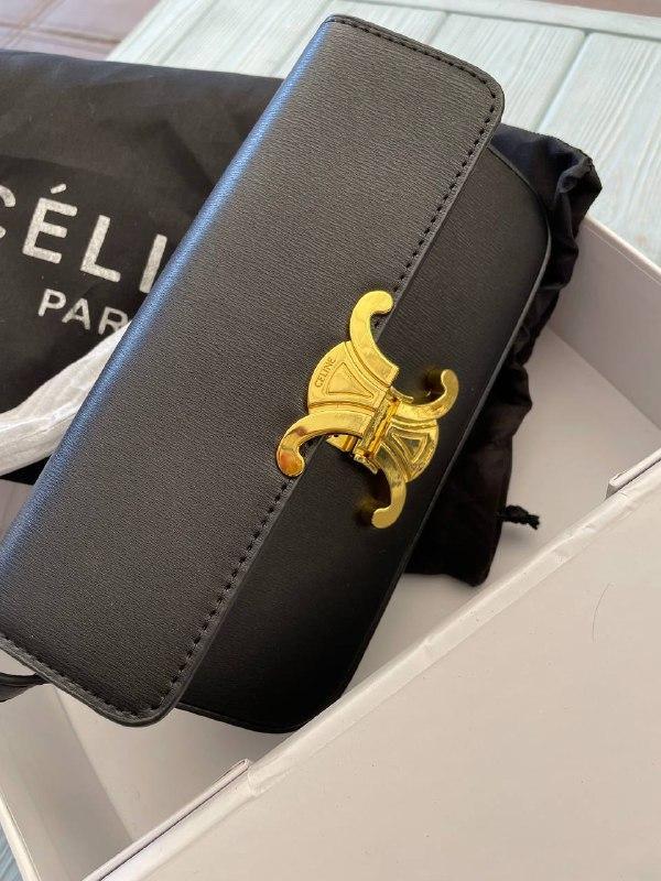 Женская сумка-клатч Селин люкс реплика Черная