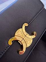 Жіноча сумка-клатч Селін люкс репліка Чорна, фото 3
