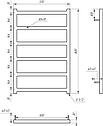 Электрический полотенцесушитель Genesis-Aqua Bud 80x53 см, фото 2
