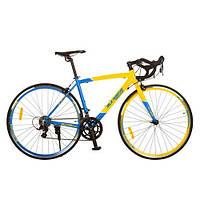 Шоссейный велосипед 28 CITY (сине-желтый)