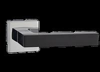 Дверная ручка на розетке MVM Z-1410 BLACK/CP (черный/полированный хром)