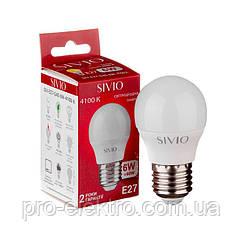 Світлодіодна лампа SIVIO SIV-E27-G45-6W-4100K Білий 1012813