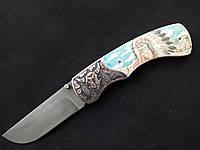 """Складной нож ручной работы из дамасской стали """"Chief"""""""