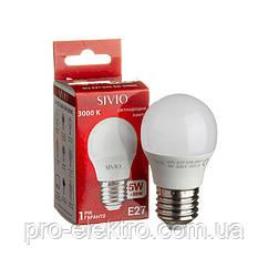Світлодіодна лампа SIVIO SIV-E27-G45-5W-3000К Білий теплий 1012810