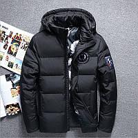 Чоловіча зимова куртка пуховик YUG в наявності, чорний. РОЗМІР 44-50, фото 1
