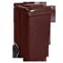 Контейнер для ТБО - 240 л,пластик,Украина коричневый