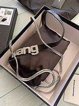 Жіноча сумка-клатч Олександр Ванг люкс репліка Чорна, фото 2