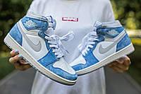 Кроссовки женские Nike Air Jordan Retro 1 High OG Hyper Royal, Найк Джордан, код IN-883