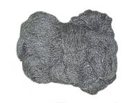 """Пряжа для вязания из овечьей шерсти """"Eluna"""" темно-серая"""