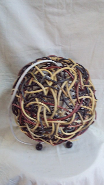 Ночник плетеный Шар размер 30*30