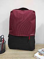 Текстильний міський рюкзак з USB-виходом 46*30*17 см, фото 1