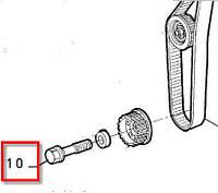 Болт шестерни коленвала Fiat Doblo  1.9JTD-1.9MJTD