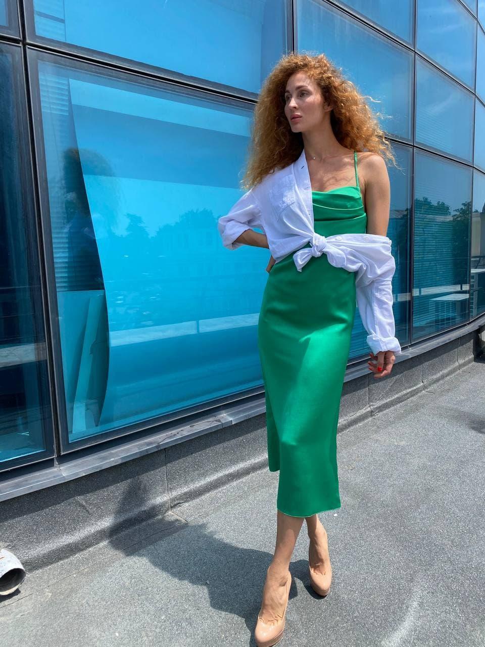 Сукня жіноча зелена SVON MKP3045