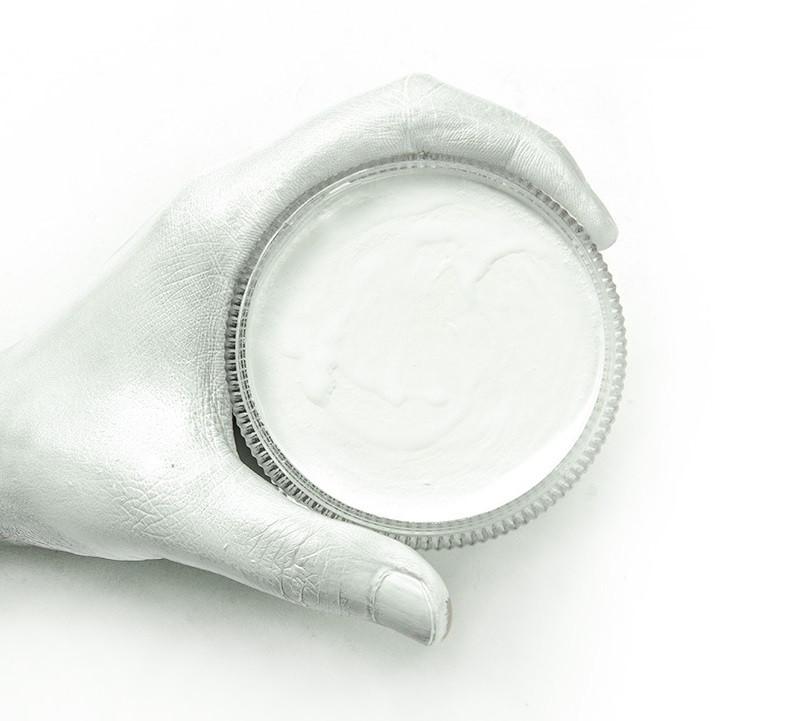 Аквагрим для лица и тела, Белый флуоресцентный, 30 г, Borrence