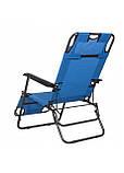 Шезлонг крісло-лежак для пляжу тераси та саду Springos Zero Gravity Синій (GC0004), фото 3