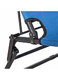 Шезлонг крісло-лежак для пляжу тераси та саду Springos Zero Gravity Синій (GC0004), фото 6