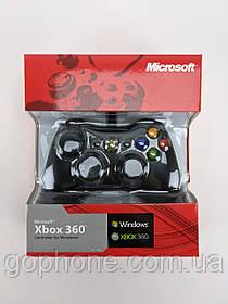 Игровой джойстик XBOX 360 ЧЕРНЫЙ (Проводной)