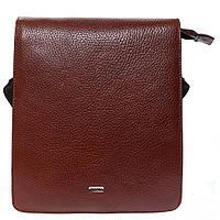 Барсетка мягкая кожаная Desisan 1310-015 рыжий флотар, фото 1