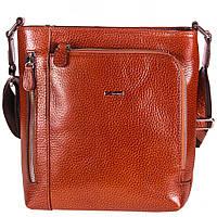 Барсетка мягкая кожаная Desisan 1331-015 рыжий флотар, фото 1