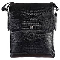 Барсетка мягкая кожаная Desisan 1354-143 черный лазер, фото 1