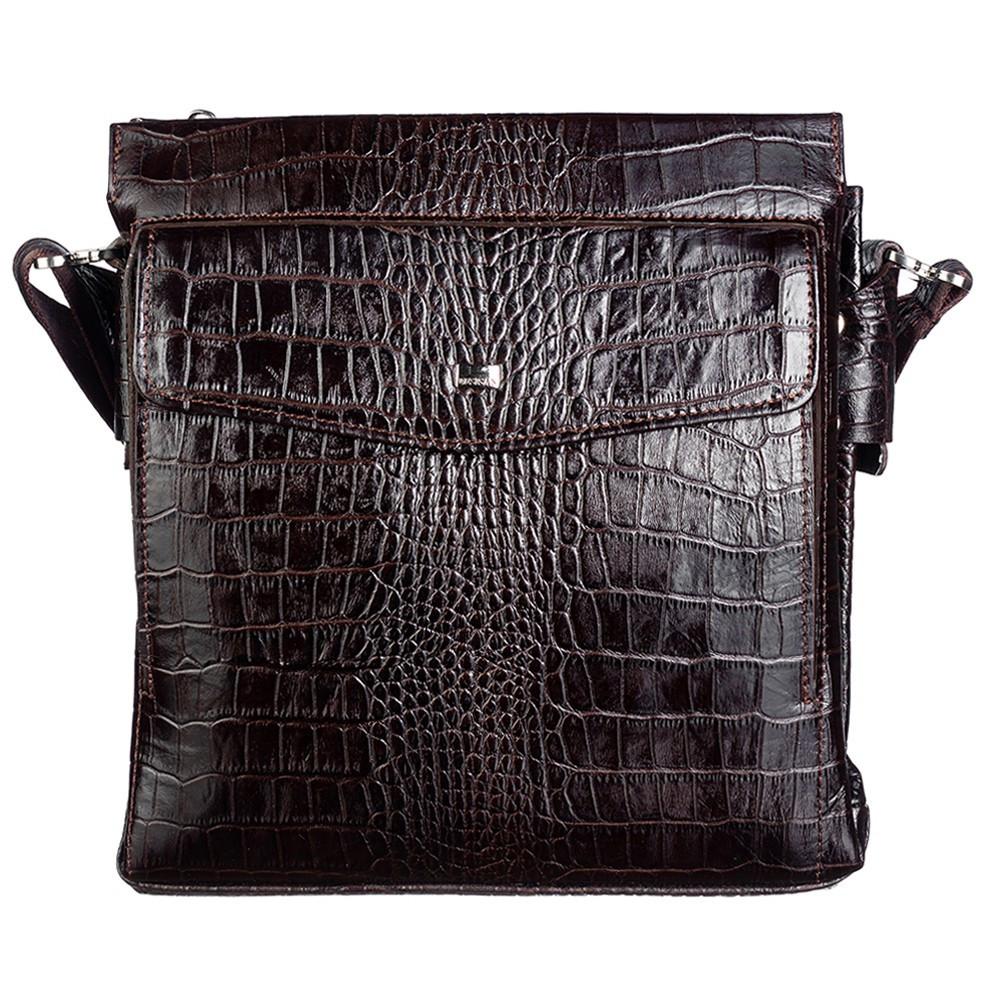 М'яка шкіряна Барсетка DESISAN 1357-19 коричневий кроко