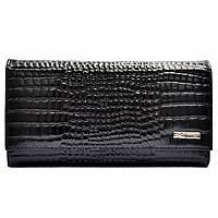 Кошелек женский кожаный Desisan 057-633 черный мелкий кроко, фото 1