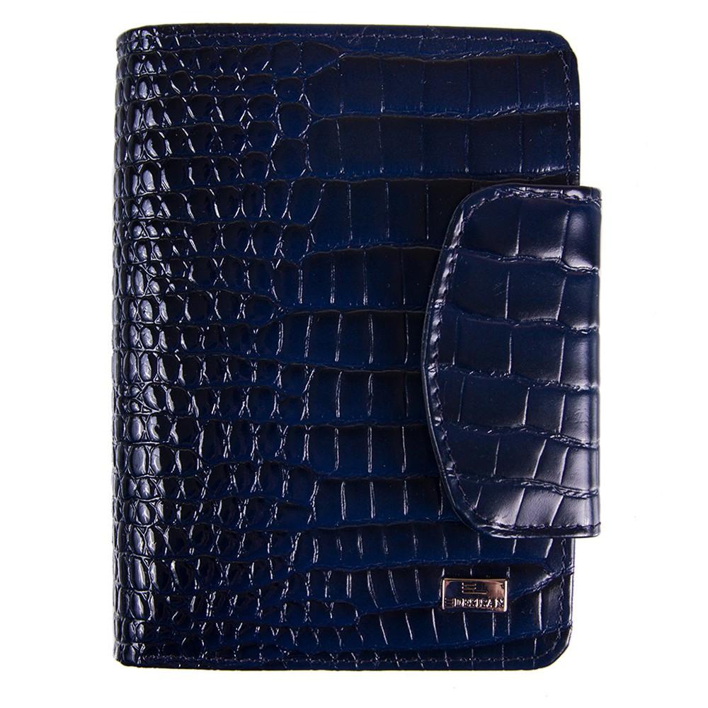 Кошелек женский кожаный Desisan 086-634 синий кроко лак