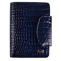 Кошелек женский кожаный Desisan 086-634 синий кроко лак, фото 1