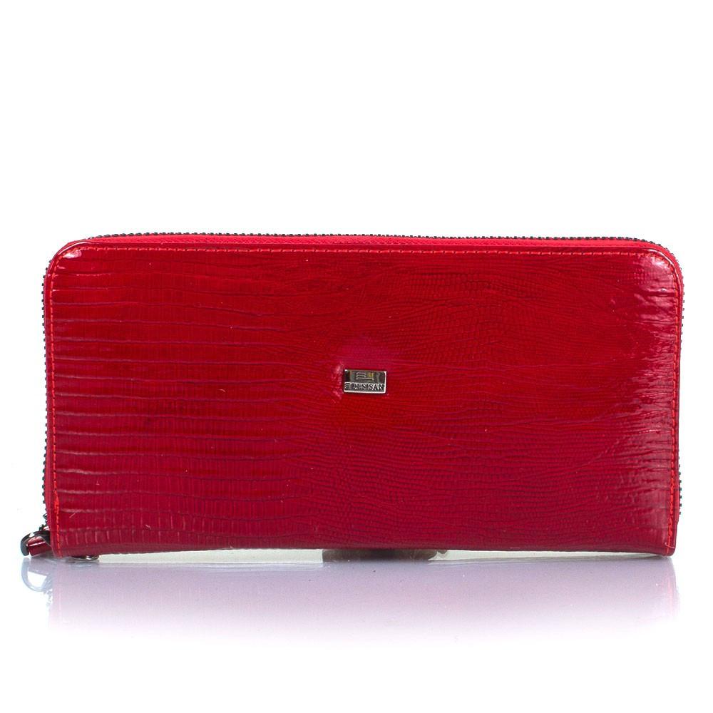 Кошелек женский кожаный Desisan 09-131 красный лазер