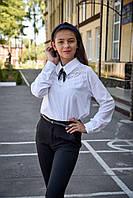 Класична блуза з мереживом для дівчинки р. 128-158 см від 8 до 14 років
