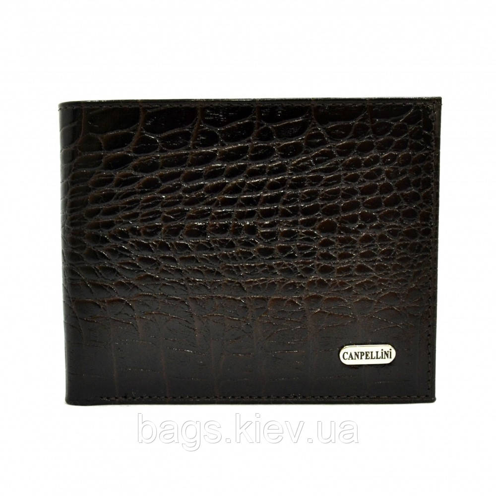 Портмоне кожаное CANPEL 1021-11 коричневый кроко