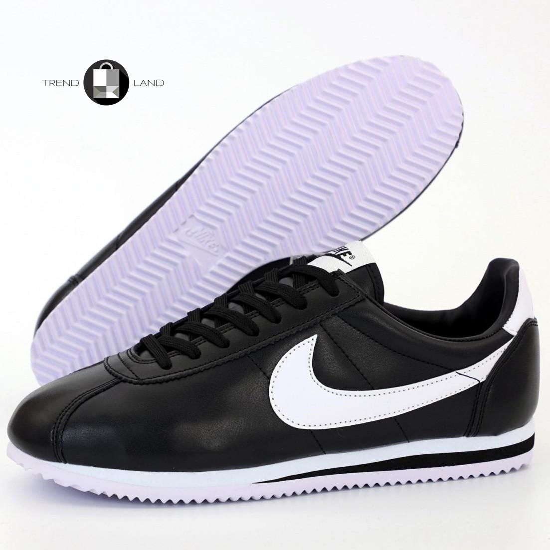 Чоловічі кросівки в стилі Nike Air Cortez Black/White