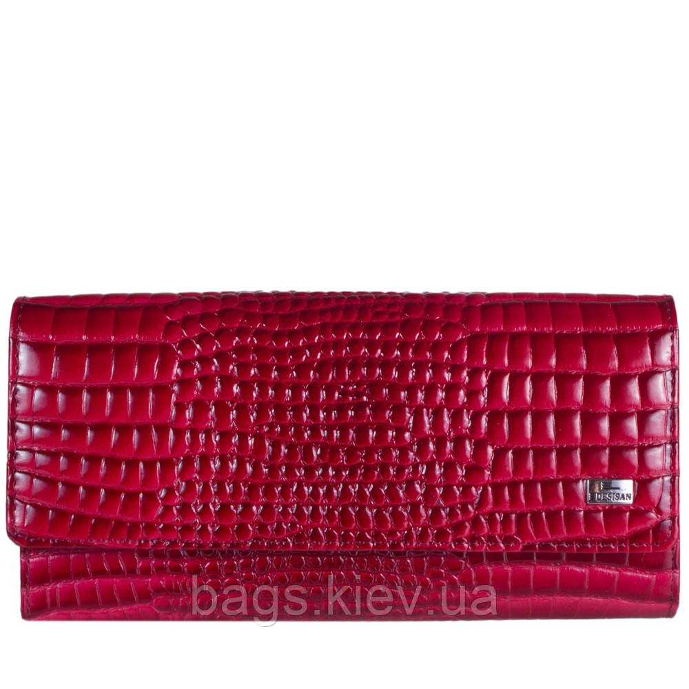 Кошелек женский кожаный Desisan 150-658 красн кроко лак