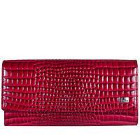 Кошелек женский кожаный Desisan 150-658 красн кроко лак, фото 1
