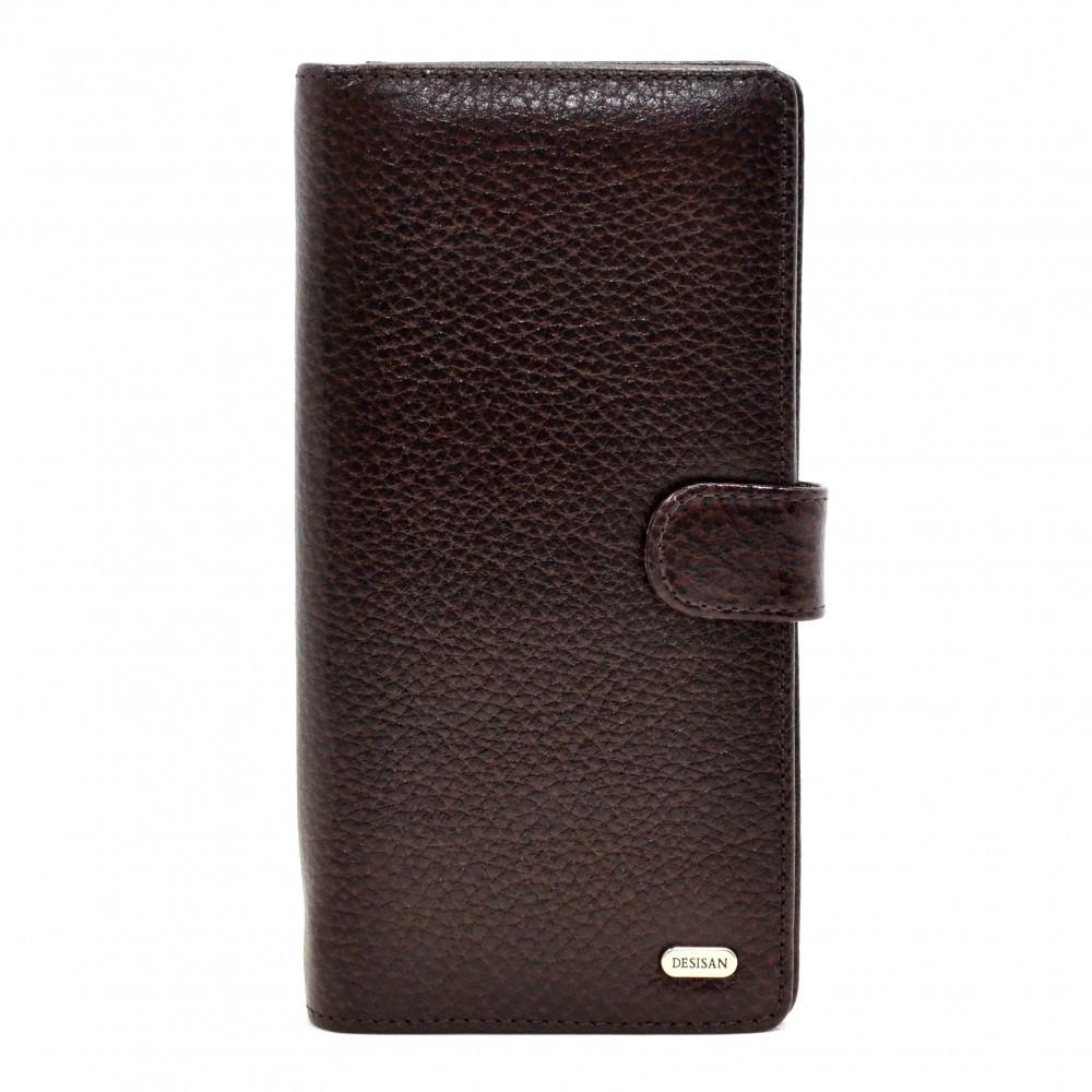 Портмоне кожаное Desisan 069-019 коричневый флотар