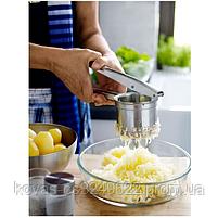 Картофельный пресс со сменными насадками для приготовления пюре, фото 3
