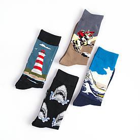Набір шкарпеток з 4 пар з оригінальними принтами Картини