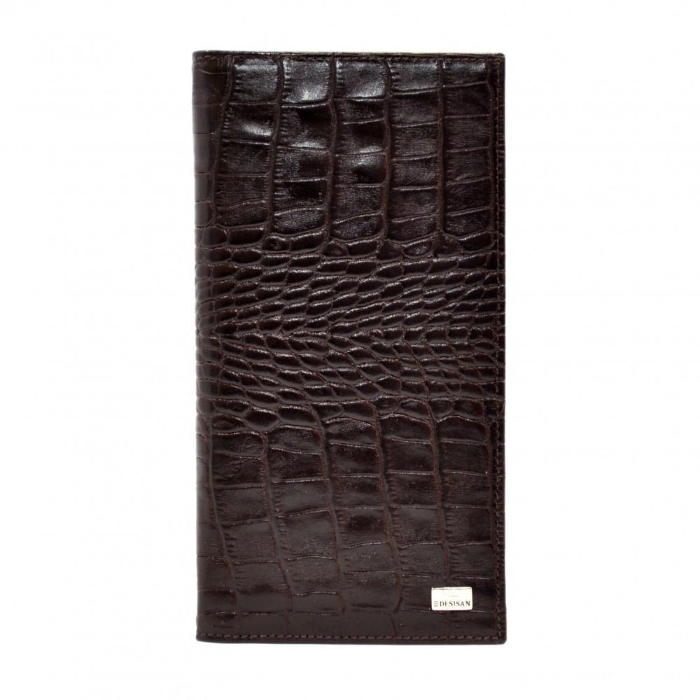 Портмоне кожаное Desisan 111-19 коричневый кроко