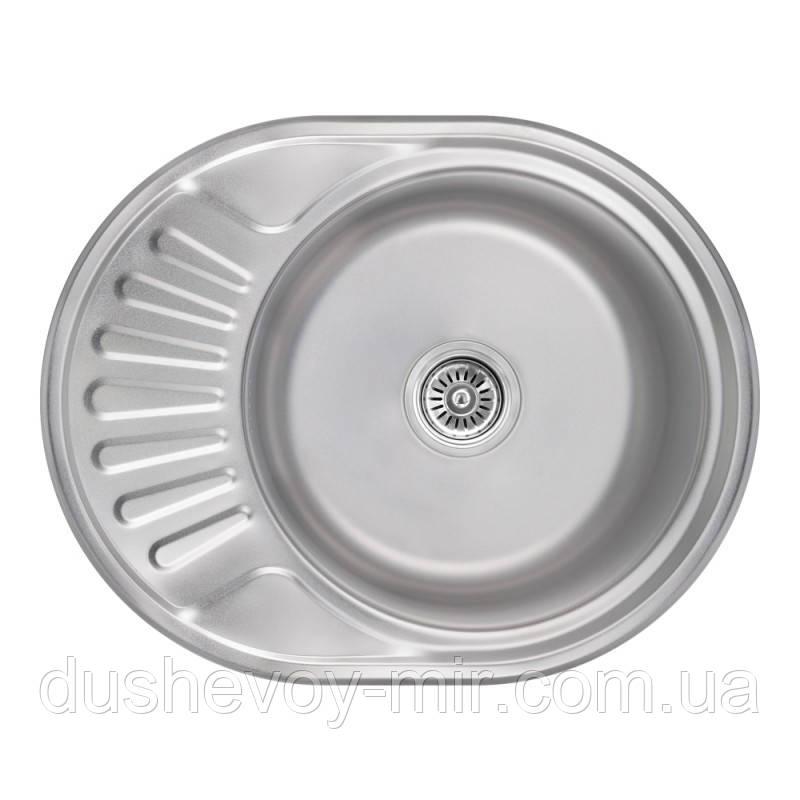 Кухонна мийка Lidz 5745 Satin 0,8 мм (LIDZ5745SAT08)