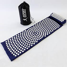 Масажний килимок і валик (аплікатор Кузнєцова) масажер для спини/шиї/тіла OSPORT Lotus Mat EcoPro (apl-022)
