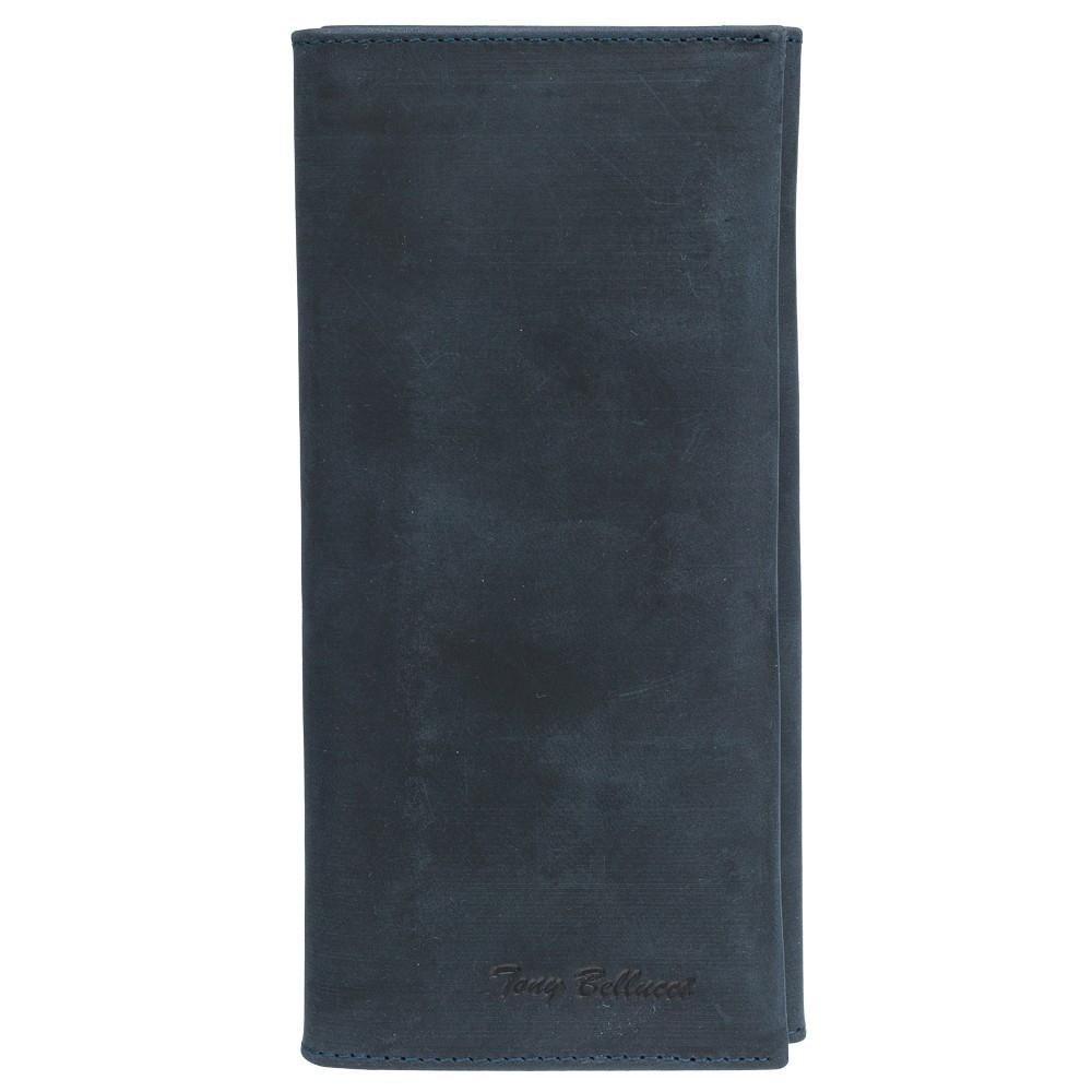 Шкіряне Портмоне Tony Bellucci 578-03 синій нубук