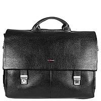Портфель кожаный Desisan 1315-01 черный гладкий
