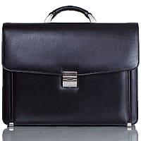 Портфель кожаный Desisan 206-1 черный гладкий, фото 1