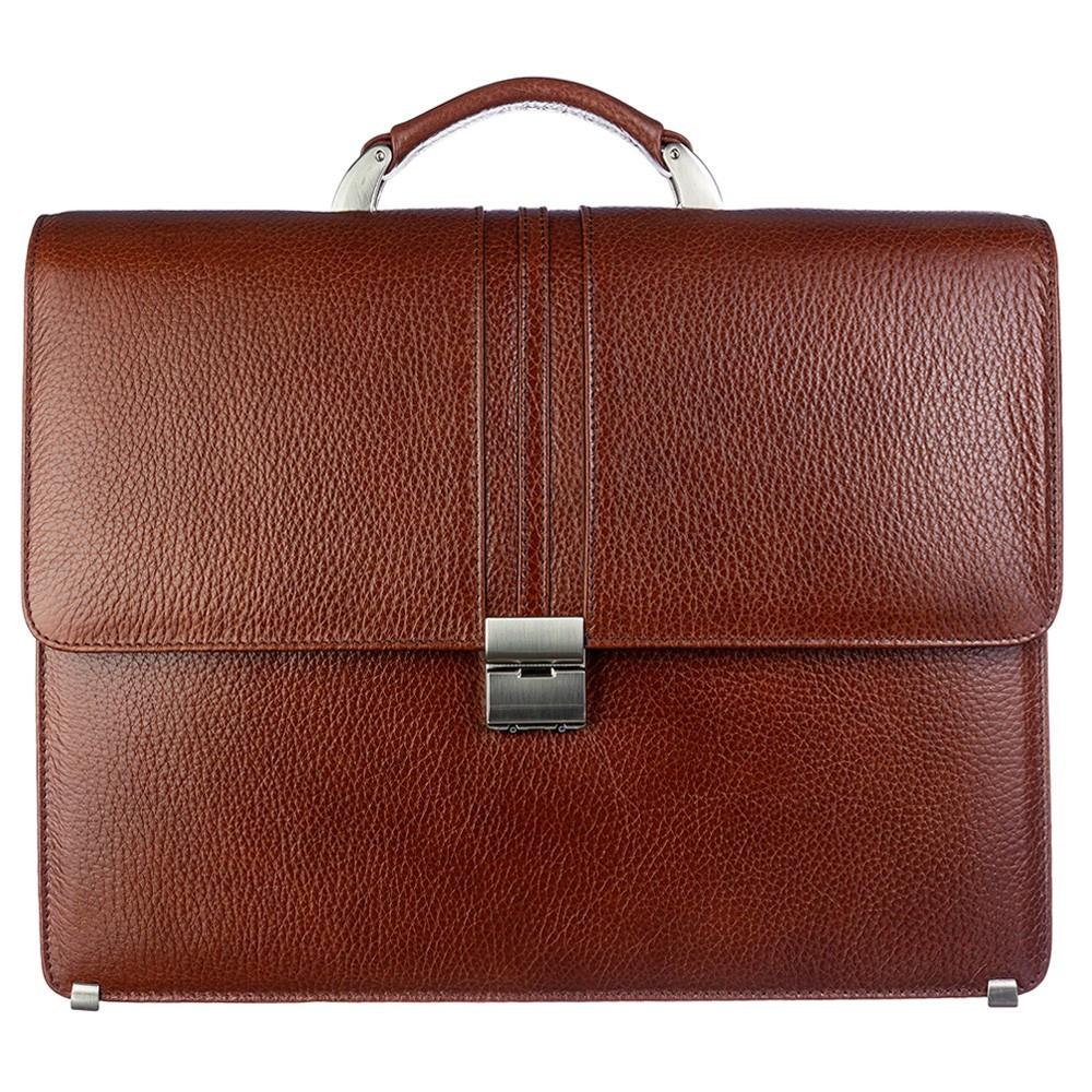 Портфель кожаный Desisan 317-015 рыжий флотар