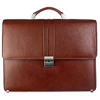 Портфель кожаный Desisan 317-015 рыжий флотар, фото 1